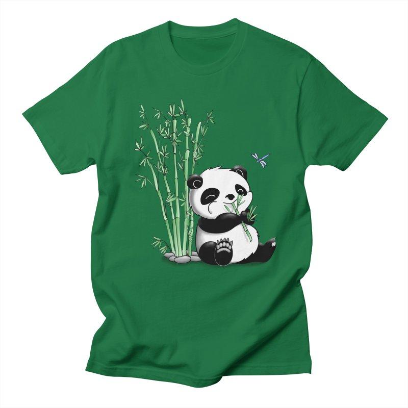 Panda Eating Bamboo Men's T-shirt by Tootsiecool's Artist Shop