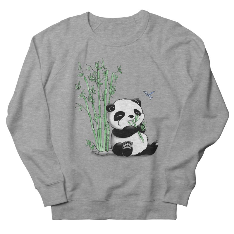 Panda Eating Bamboo Men's Sweatshirt by Tootsiecool's Artist Shop