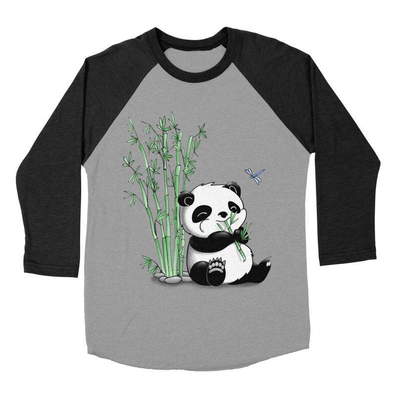 Panda Eating Bamboo Women's Baseball Triblend T-Shirt by Tootsiecool's Artist Shop