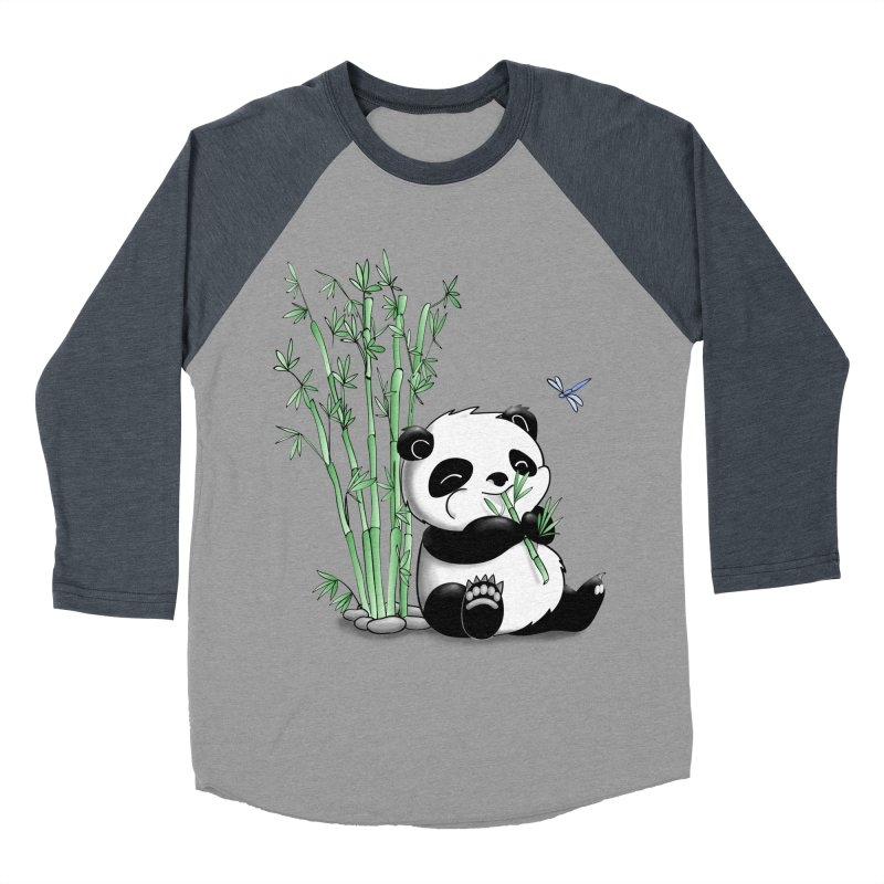Panda Eating Bamboo Women's Baseball Triblend T-Shirt by Tootsiecool's Artist Shop