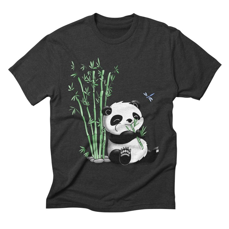 Panda Eating Bamboo Men's Triblend T-shirt by Tootsiecool's Artist Shop