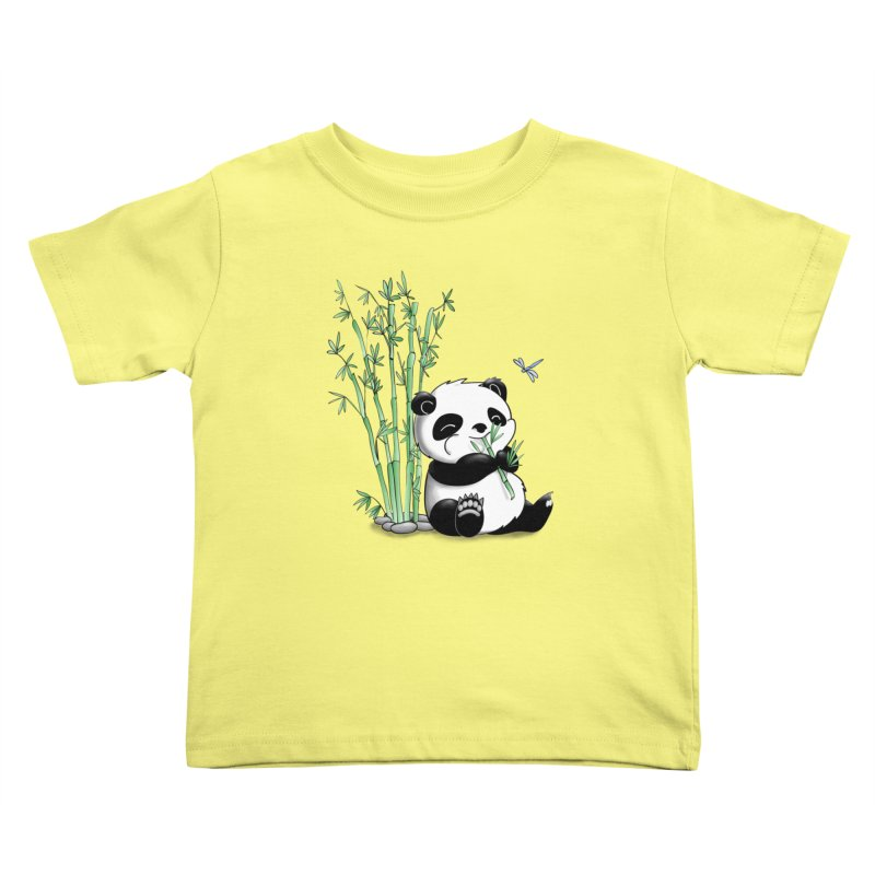 Panda Eating Bamboo Kids Toddler T-Shirt by Tootsiecool's Artist Shop