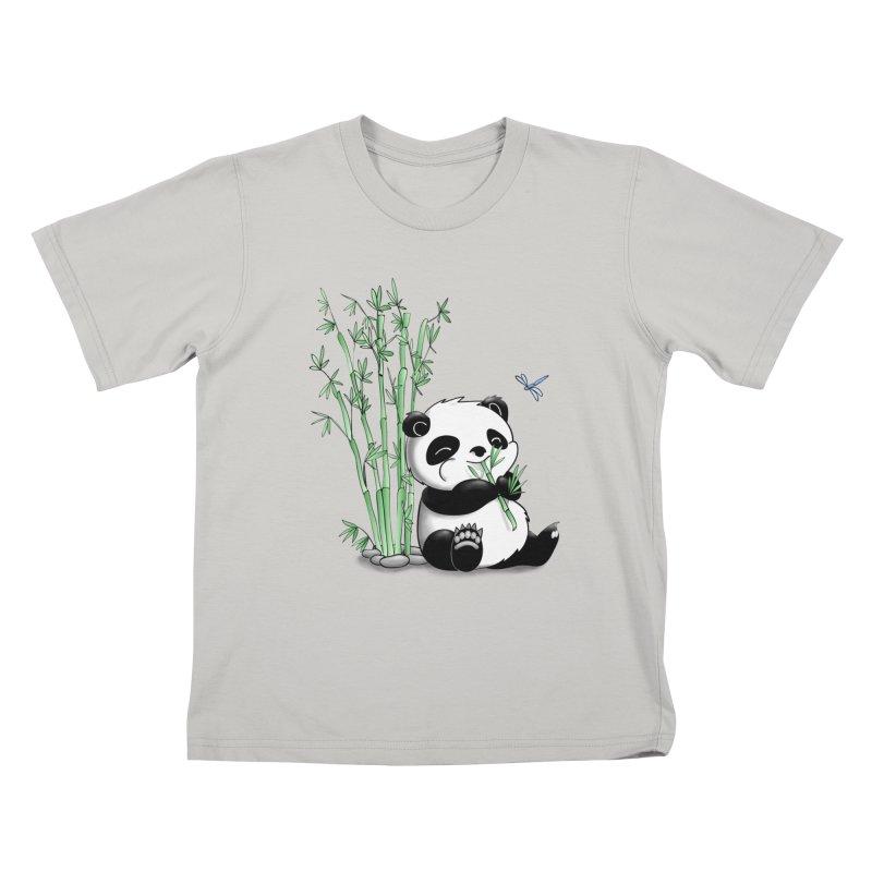 Panda Eating Bamboo Kids T-Shirt by Tootsiecool's Artist Shop