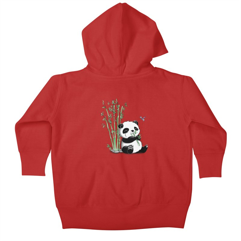 Panda Eating Bamboo Kids Baby Zip-Up Hoody by Tootsiecool's Artist Shop