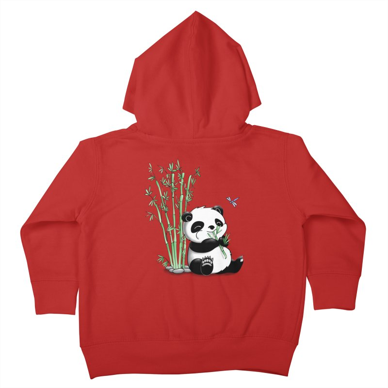 Panda Eating Bamboo Kids Toddler Zip-Up Hoody by Tootsiecool's Artist Shop
