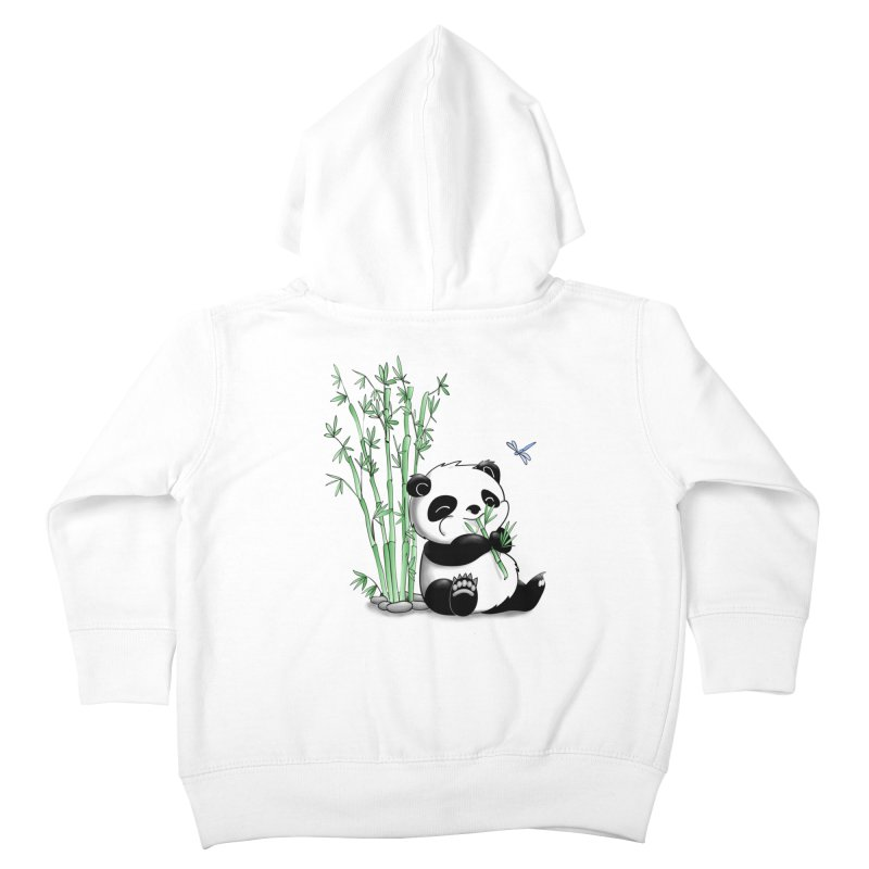 Panda Eating Bamboo Kids Toddler Zip-Up Hoody by Tootsiecool's Artist Shop