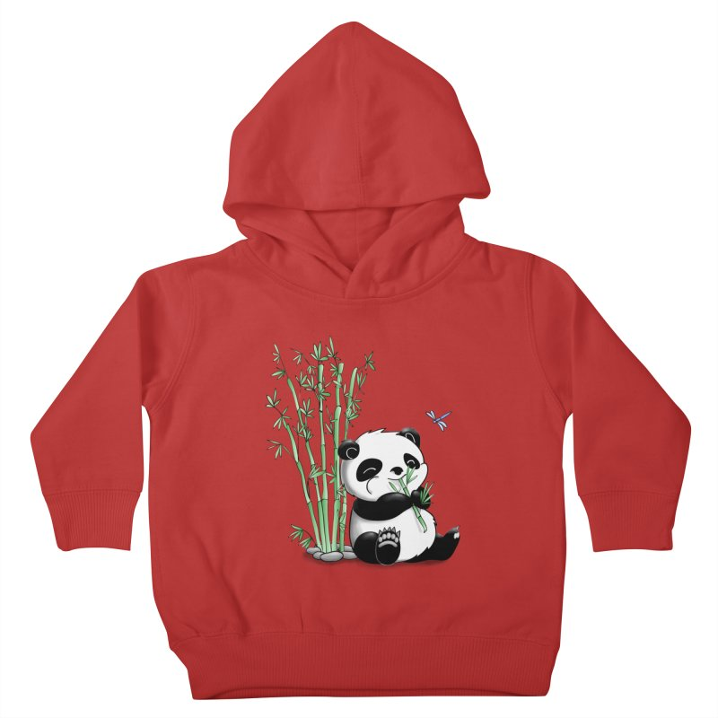 Panda Eating Bamboo Kids Toddler Pullover Hoody by Tootsiecool's Artist Shop