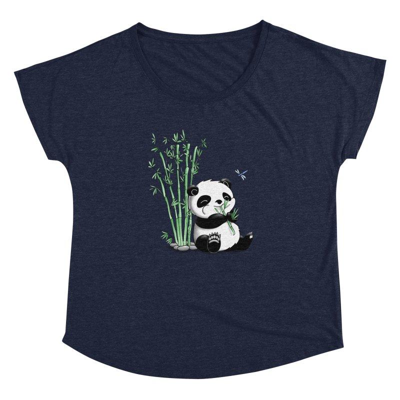 Panda Eating Bamboo Women's Dolman by Tootsiecool's Artist Shop