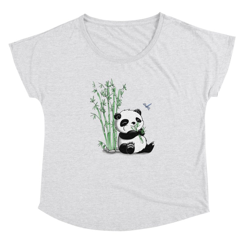 Panda Eating Bamboo Women's Dolman by Tootsiecool's Artist Shop