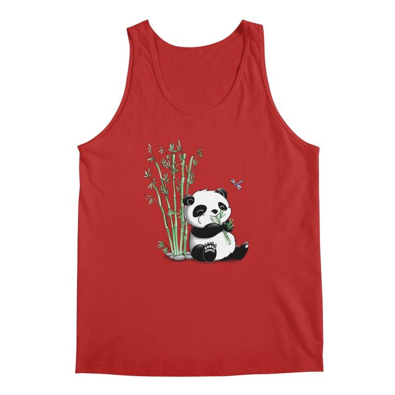 Panda Eating Bamboo Men's Tank by Tootsiecool's Artist Shop