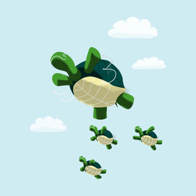 Flying Turtles None  by Tootsiecool's Artist Shop