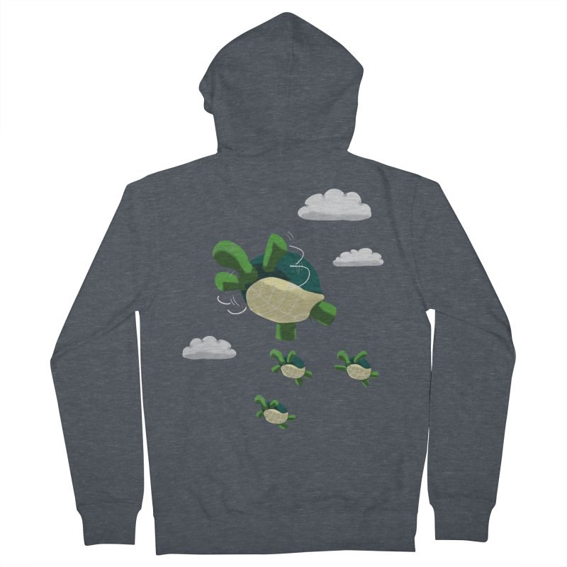 Flying Turtles Women's Zip-Up Hoody by Tootsiecool's Artist Shop