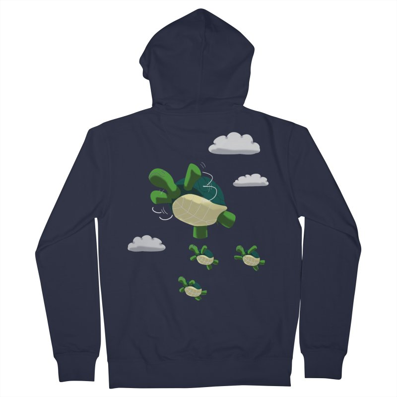 Flying Turtles Men's Zip-Up Hoody by Tootsiecool's Artist Shop
