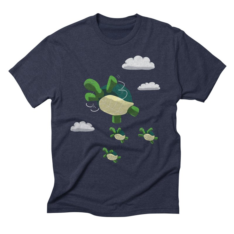 Flying Turtles Men's Triblend T-shirt by Tootsiecool's Artist Shop