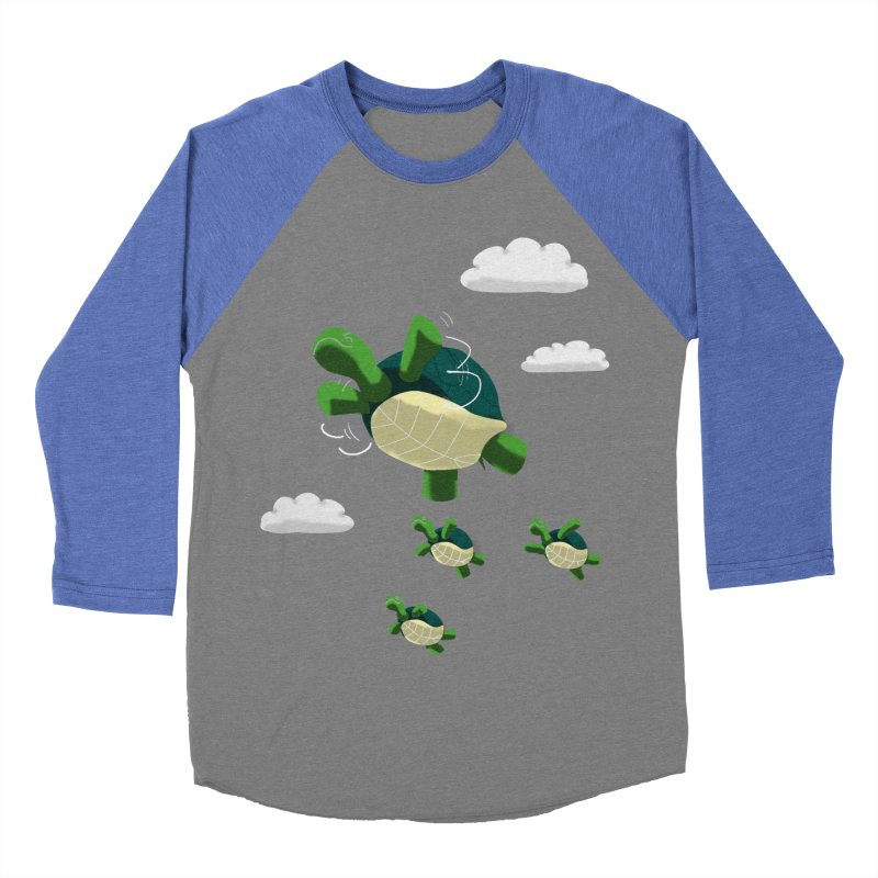 Flying Turtles Women's Baseball Triblend T-Shirt by Tootsiecool's Artist Shop