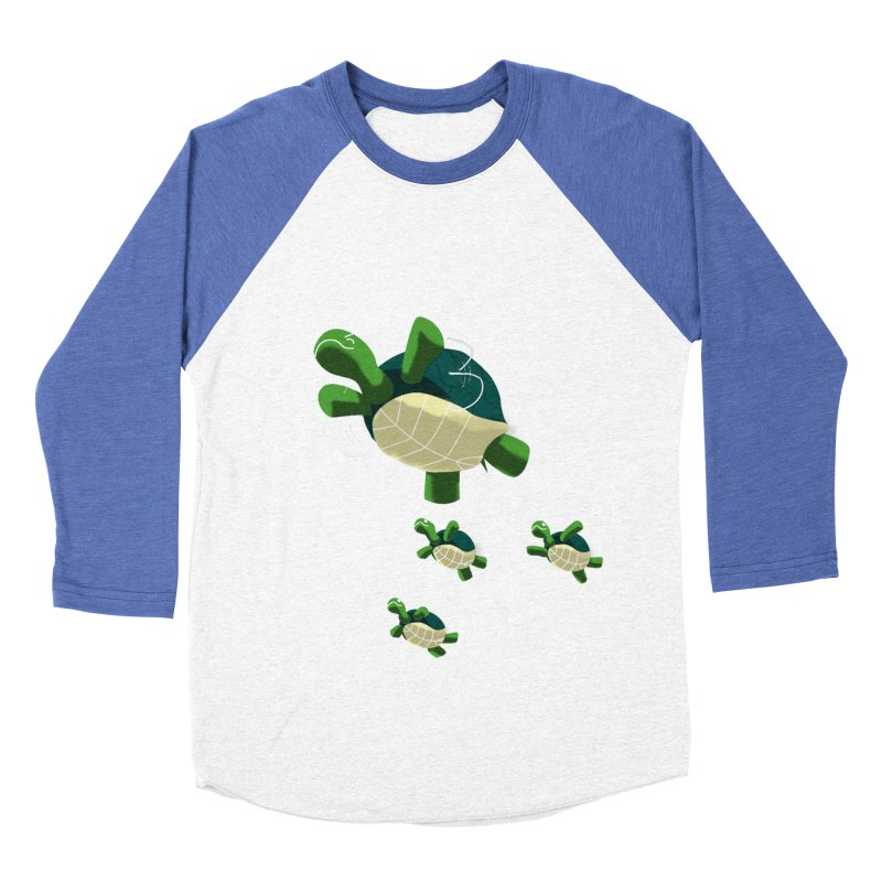 Flying Turtles Men's Baseball Triblend T-Shirt by Tootsiecool's Artist Shop