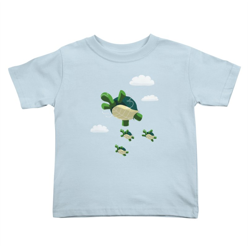 Flying Turtles Kids Toddler T-Shirt by Tootsiecool's Artist Shop