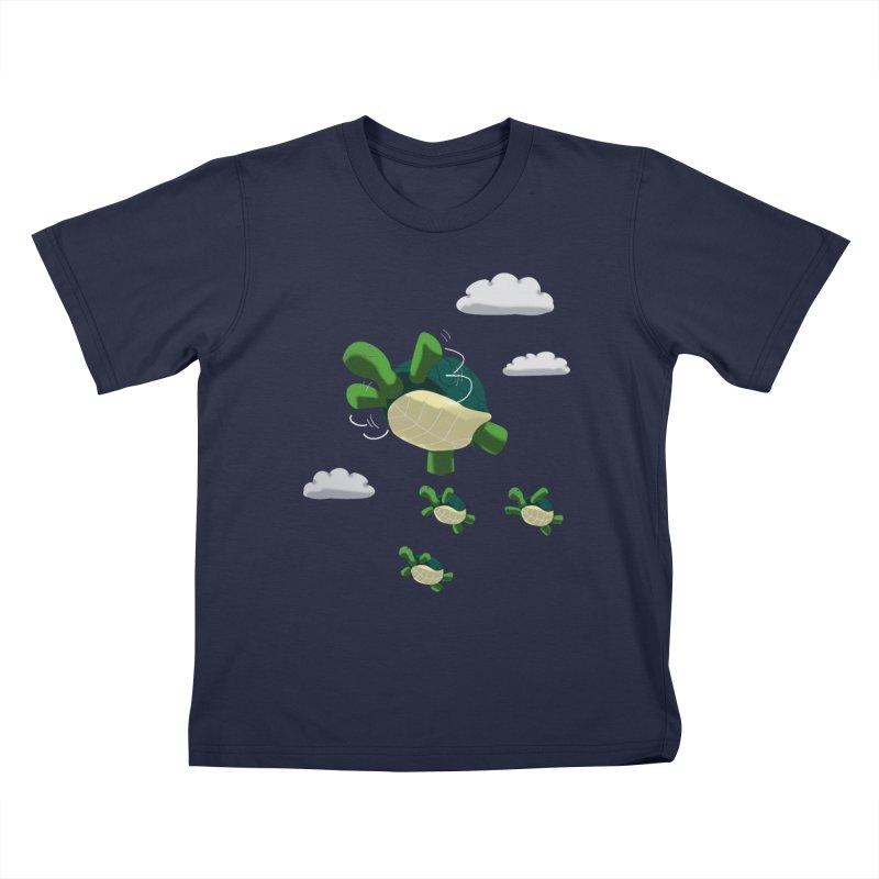 Flying Turtles Kids T-Shirt by Tootsiecool's Artist Shop