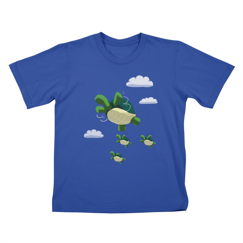 Flying Turtles Kids T-shirt by Tootsiecool's Artist Shop