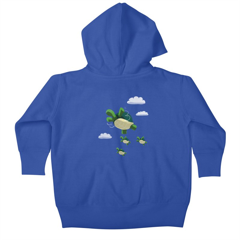 Flying Turtles Kids Baby Zip-Up Hoody by Tootsiecool's Artist Shop