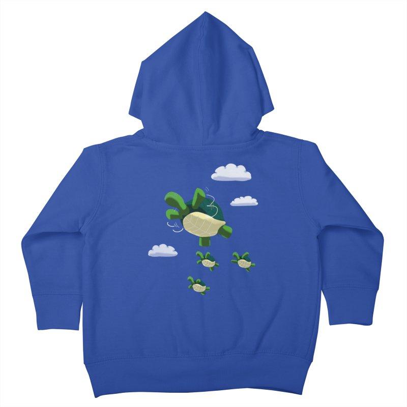 Flying Turtles Kids Toddler Zip-Up Hoody by Tootsiecool's Artist Shop