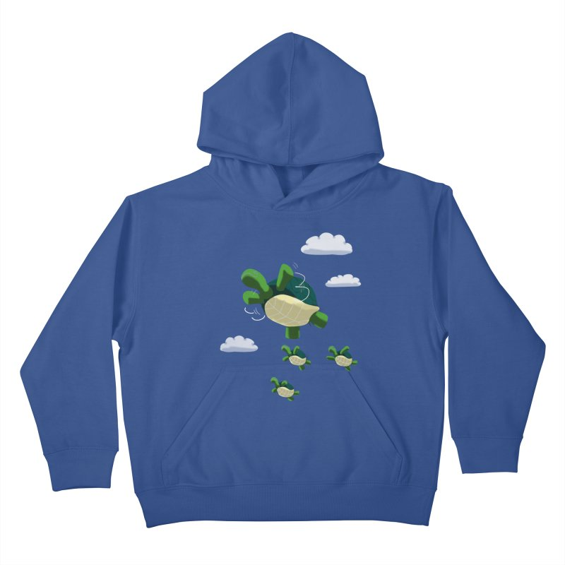 Flying Turtles Kids Pullover Hoody by Tootsiecool's Artist Shop