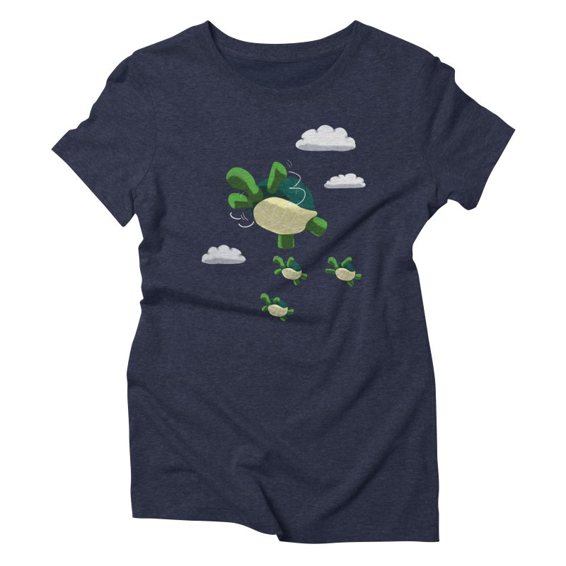 Flying Turtles Women's Triblend T-Shirt by Tootsiecool's Artist Shop