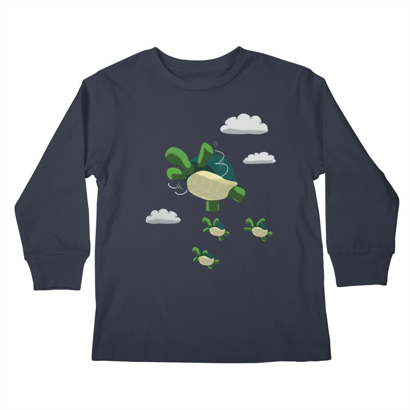 Flying Turtles Kids Longsleeve T-Shirt by Tootsiecool's Artist Shop