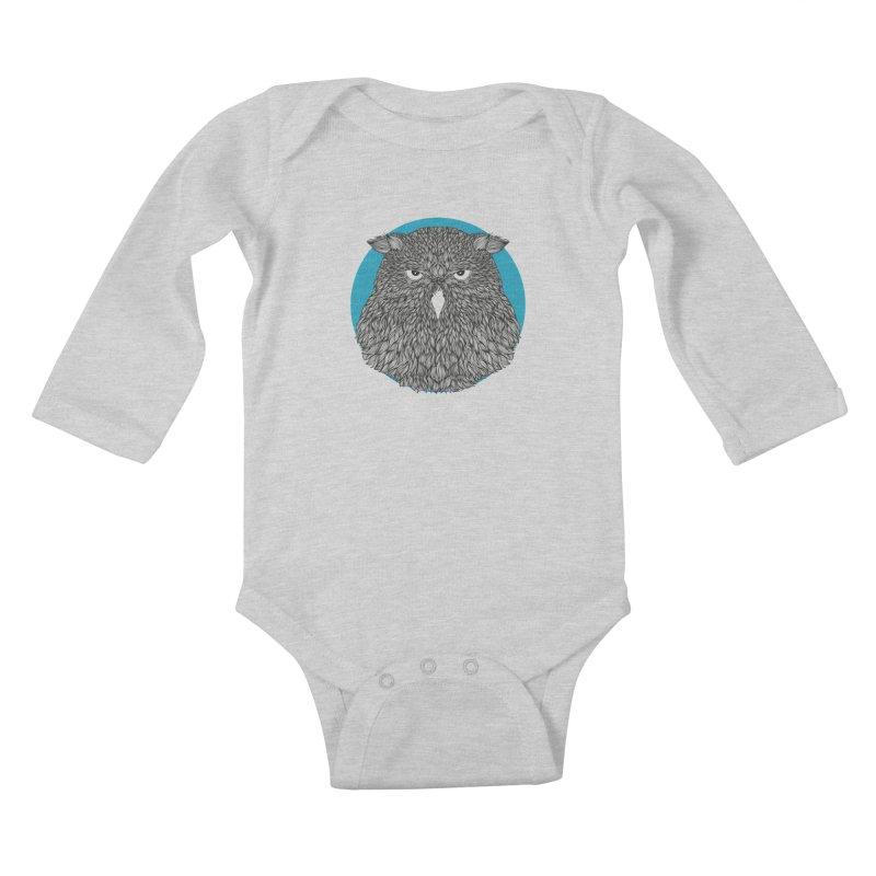 Owl Kids Baby Longsleeve Bodysuit by topodos's Artist Shop