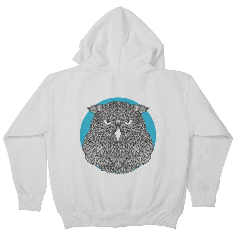 Owl Kids Zip-Up Hoody by topodos's Artist Shop