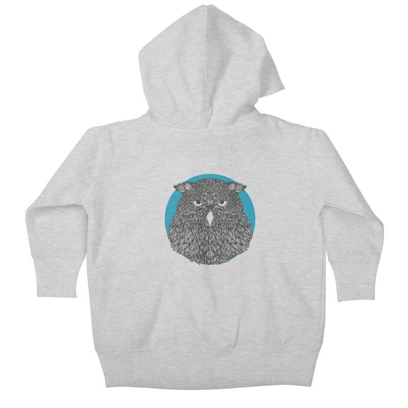 Owl Kids Baby Zip-Up Hoody by topodos's Artist Shop