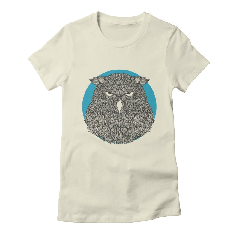 Owl Women's Fitted T-Shirt by topodos's Artist Shop