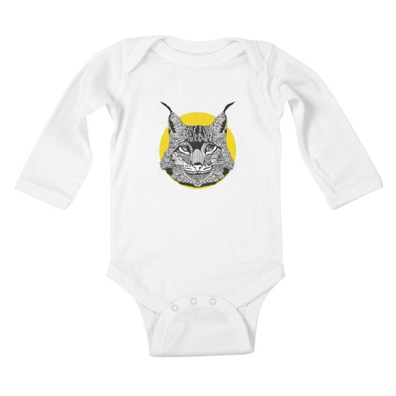 Lynx Kids Baby Longsleeve Bodysuit by topodos's Artist Shop