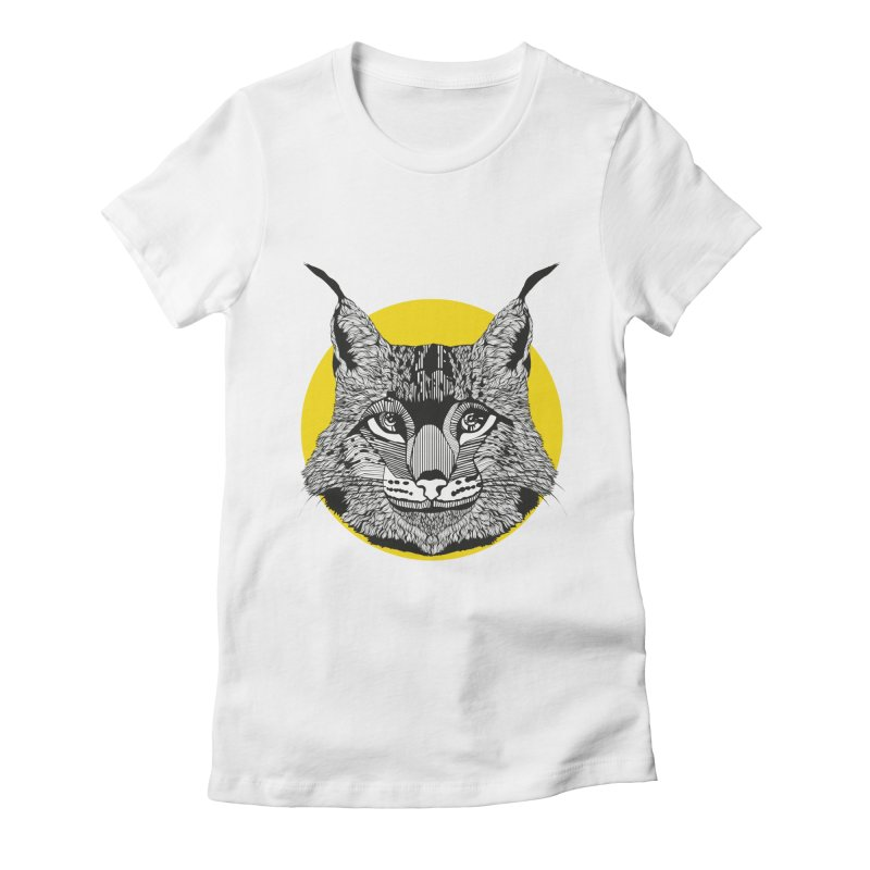 Lynx Women's Fitted T-Shirt by topodos's Artist Shop