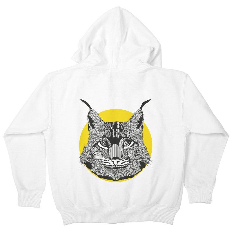 Lynx Kids Zip-Up Hoody by topodos's Artist Shop