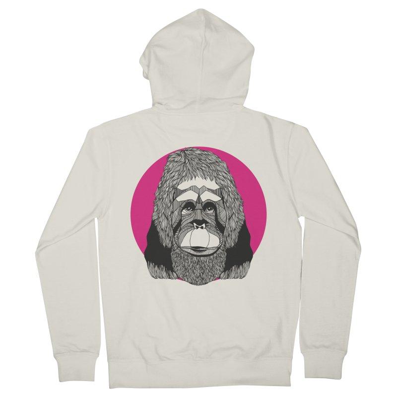 Orangutan Men's Zip-Up Hoody by topodos's Artist Shop