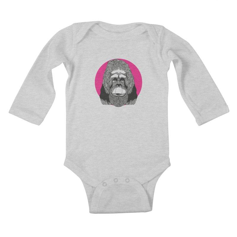 Orangutan Kids Baby Longsleeve Bodysuit by topodos's Artist Shop