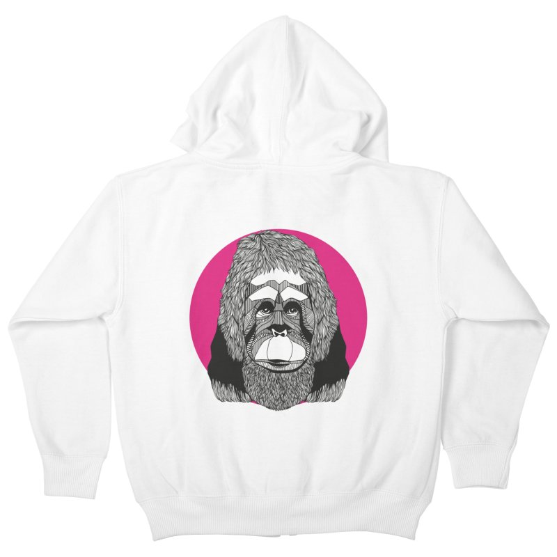 Orangutan Kids Zip-Up Hoody by topodos's Artist Shop