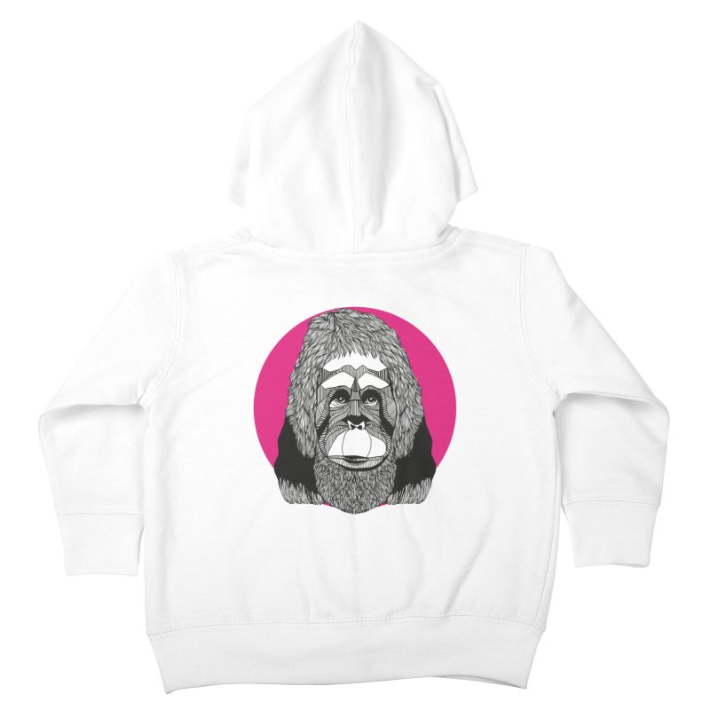 Orangutan Kids Toddler Zip-Up Hoody by topodos's Artist Shop