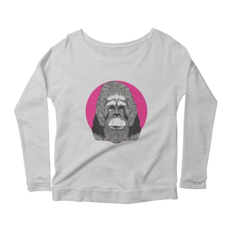 Orangutan Women's Longsleeve Scoopneck  by topodos's Artist Shop