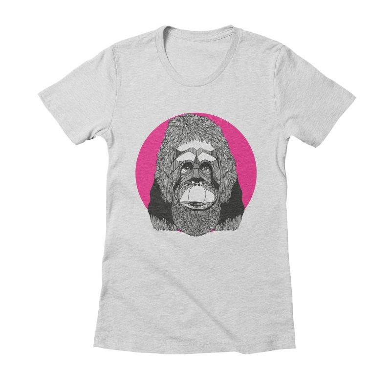 Orangutan Women's Fitted T-Shirt by topodos's Artist Shop