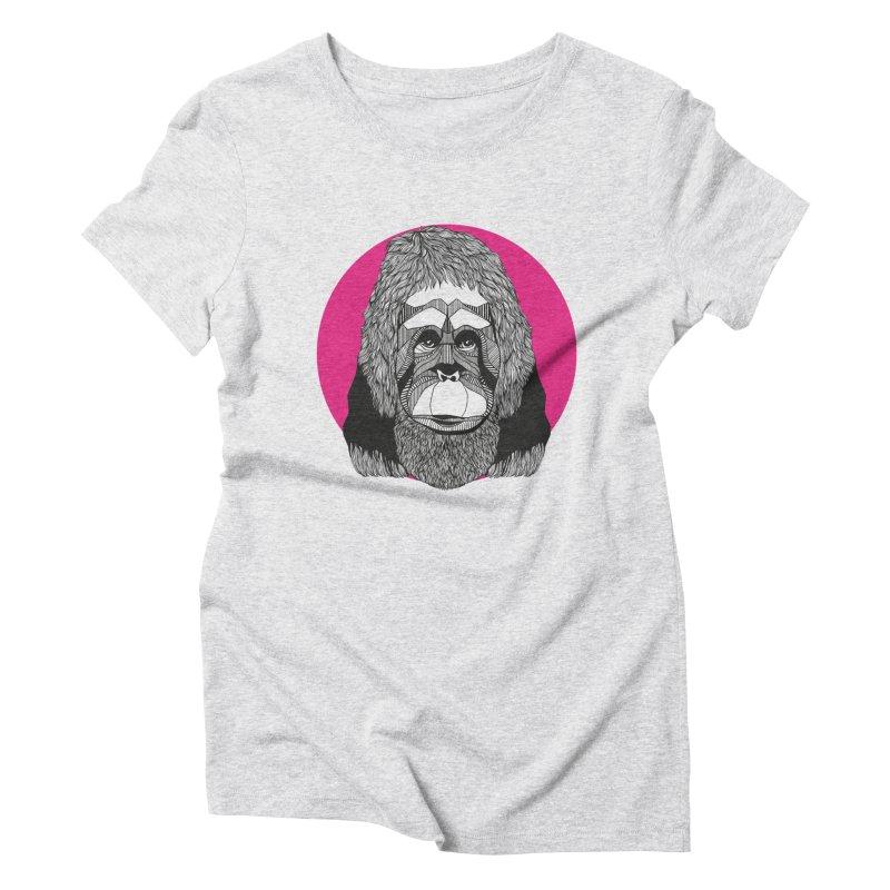 Orangutan Women's Triblend T-Shirt by topodos's Artist Shop