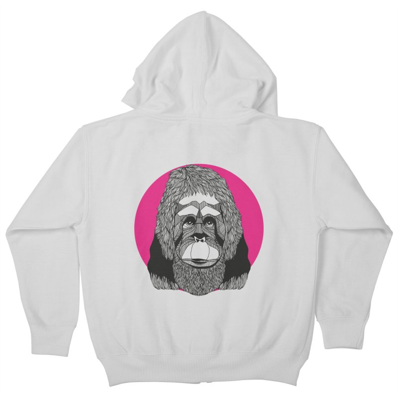 Orangutan Kids Zip-Up Hoody by topodos's Artist Shop