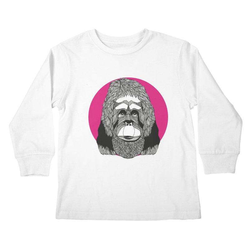 Orangutan Kids Longsleeve T-Shirt by topodos's Artist Shop