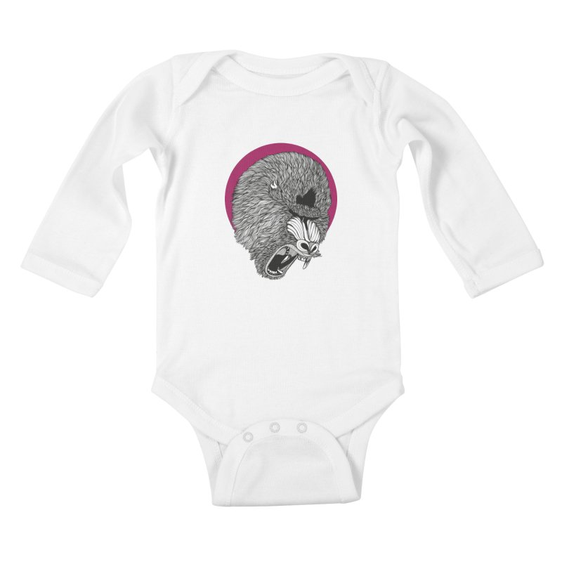 Mandrill Kids Baby Longsleeve Bodysuit by topodos's Artist Shop