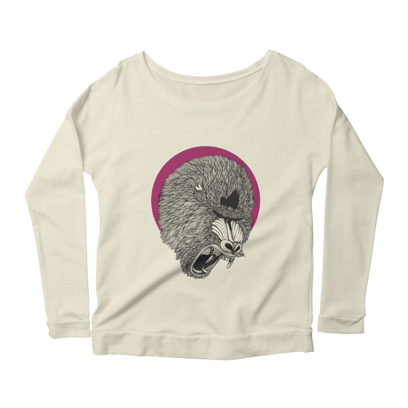 Mandrill Women's Longsleeve Scoopneck  by topodos's Artist Shop