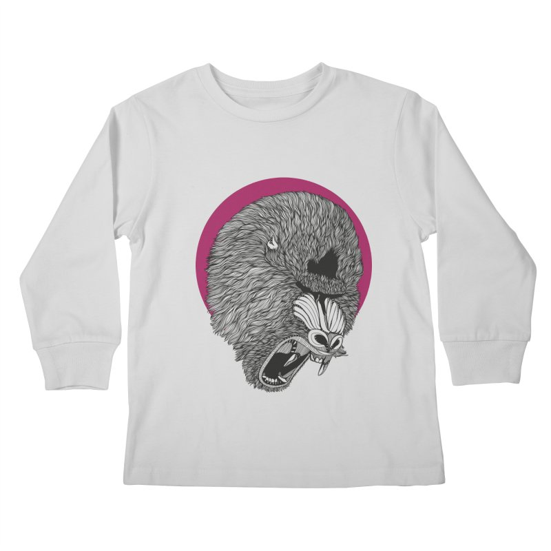 Mandrill Kids Longsleeve T-Shirt by topodos's Artist Shop