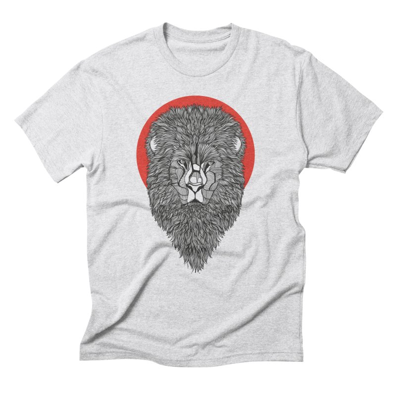 Lion Men's Triblend T-Shirt by topodos's Artist Shop