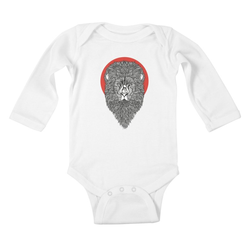 Lion Kids Baby Longsleeve Bodysuit by topodos's Artist Shop
