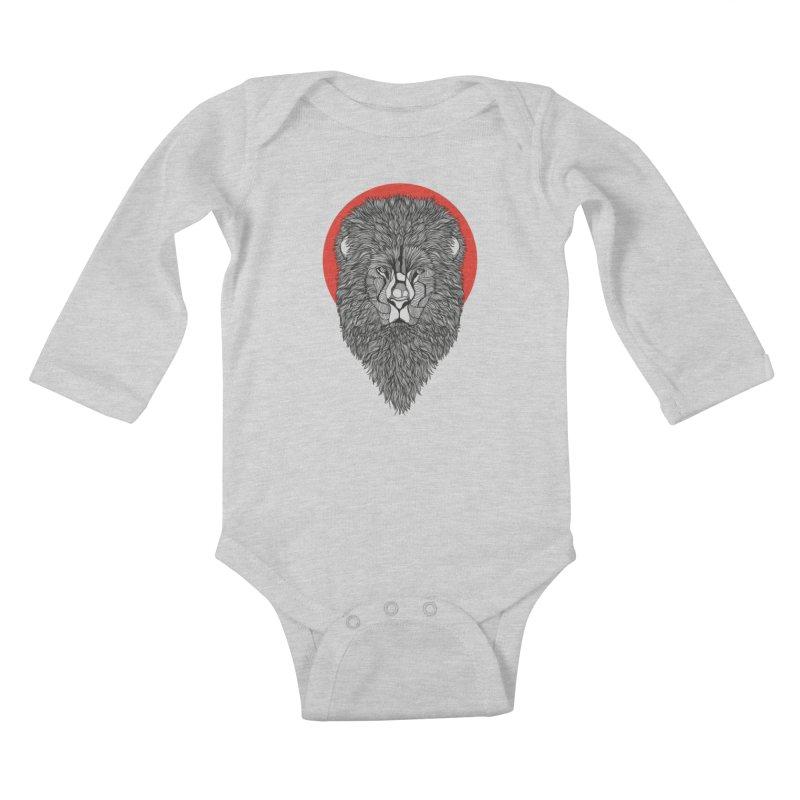 Lion Kids Baby Longsleeve Bodysuit by topodos's Artist Shop